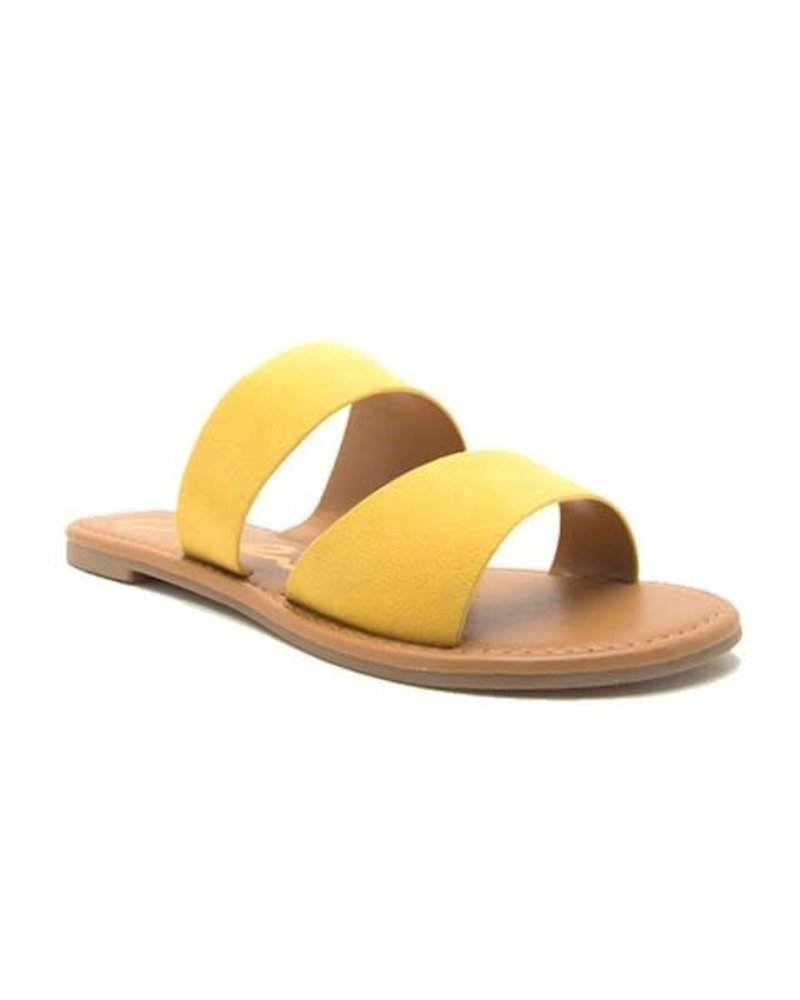 Double Band Slip On Sandal