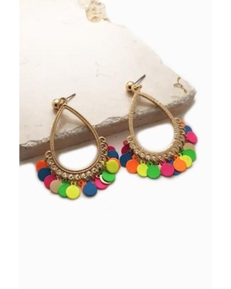 Rainbow Mini Discs Earrings