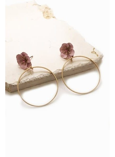 Mini Flower Hoop Earrings