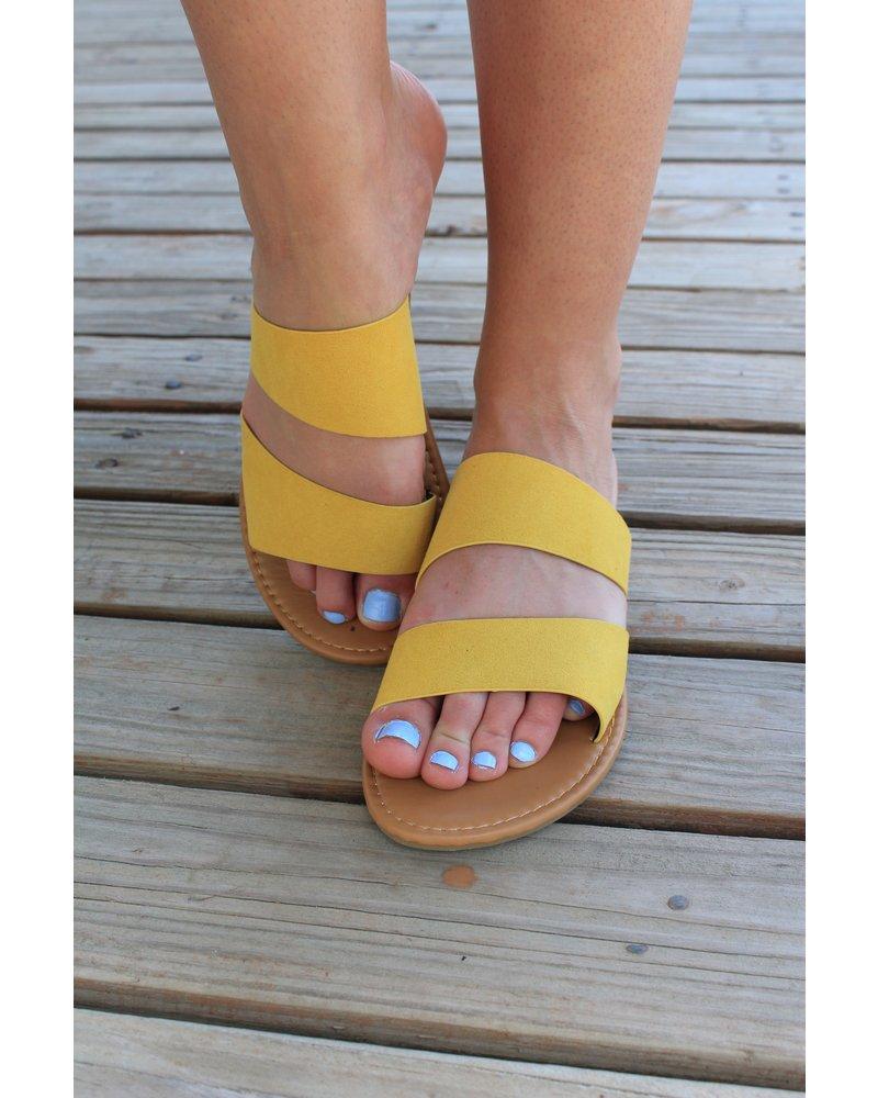 Double Band Slip On Sandal