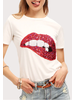 yipsy Sequin Lip Tee