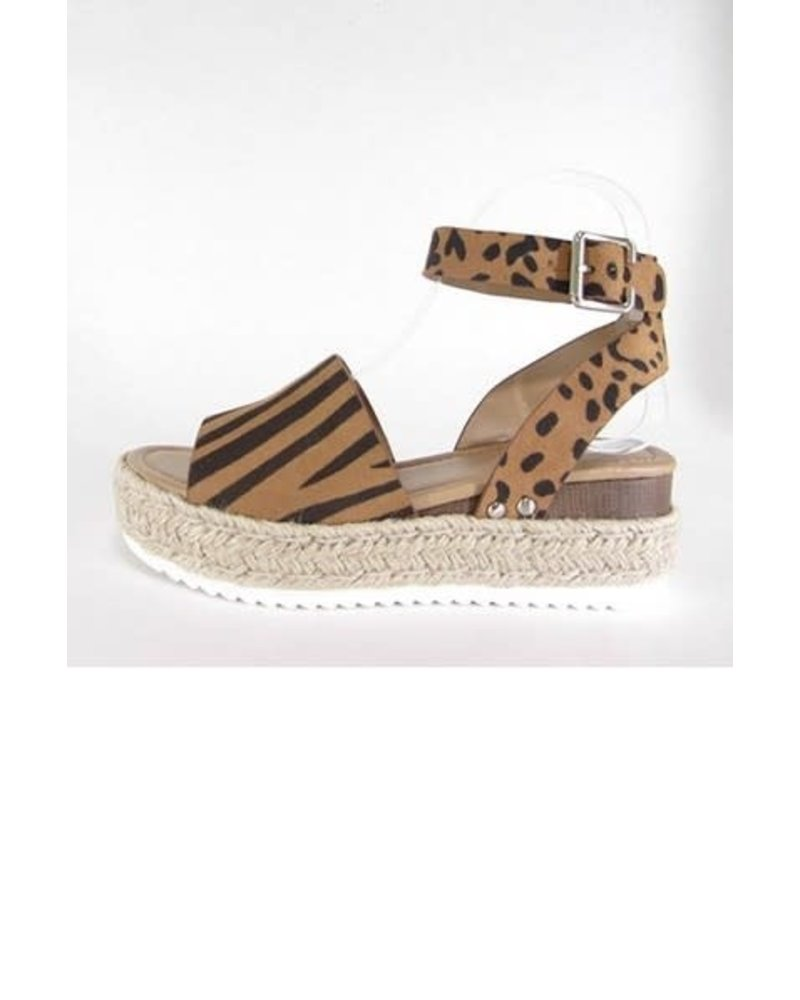 yipsy Animal Espadrille Flat Sandal