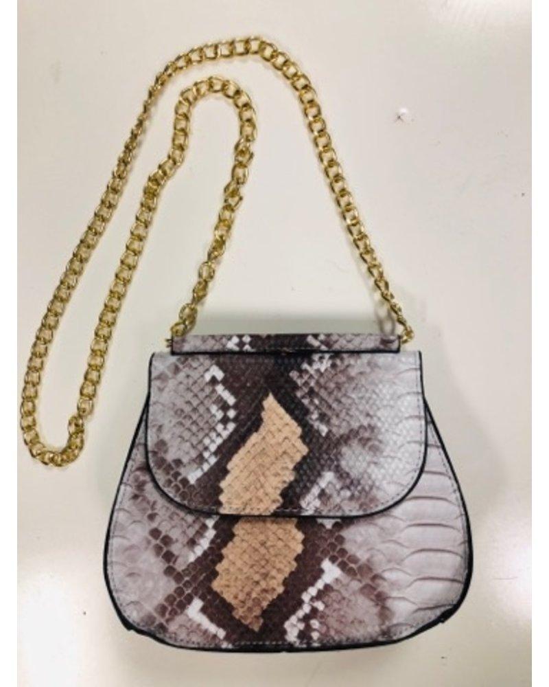 yipsy Python Handbag - Brown