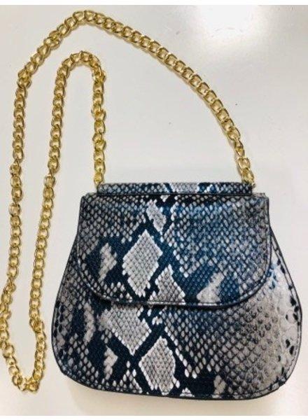 Python Handbag - Black