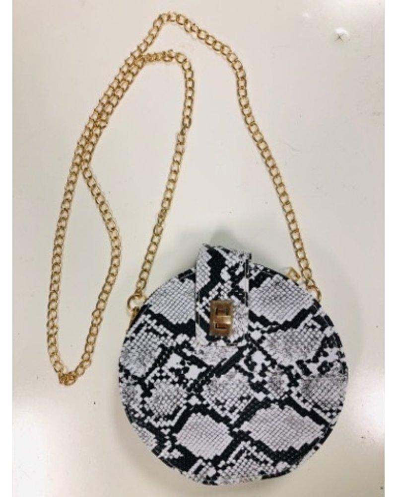 yipsy Round Python Handbag
