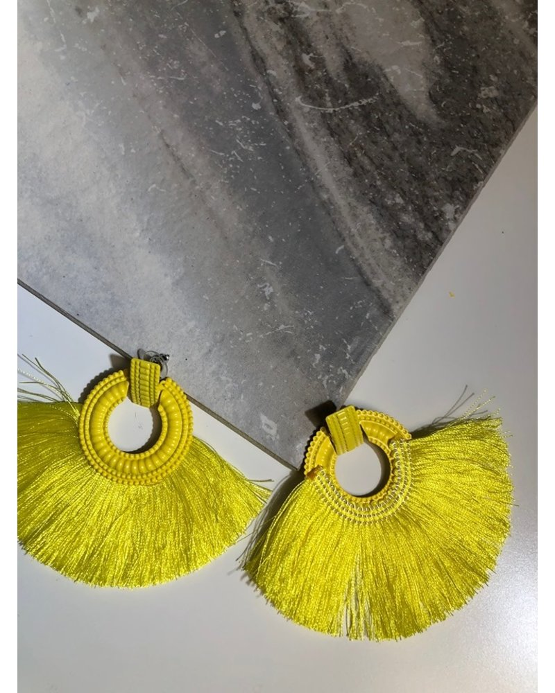 Yellow Fringe Earring