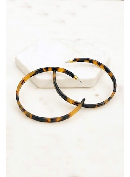 CocoPaige Tortoise Hoop Earrings
