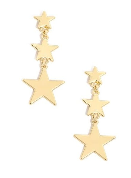 Three Star Drop Earrings