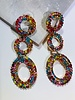 3 Circle Rhinestone Earrings