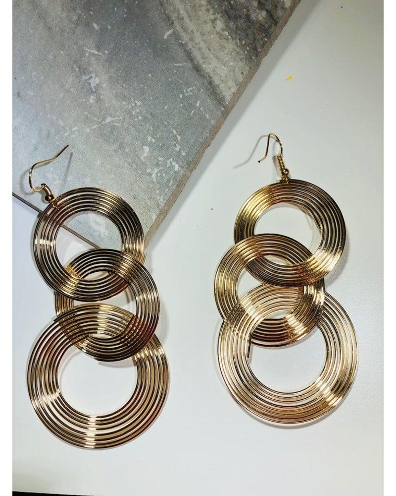 Three Circle Drop Earring