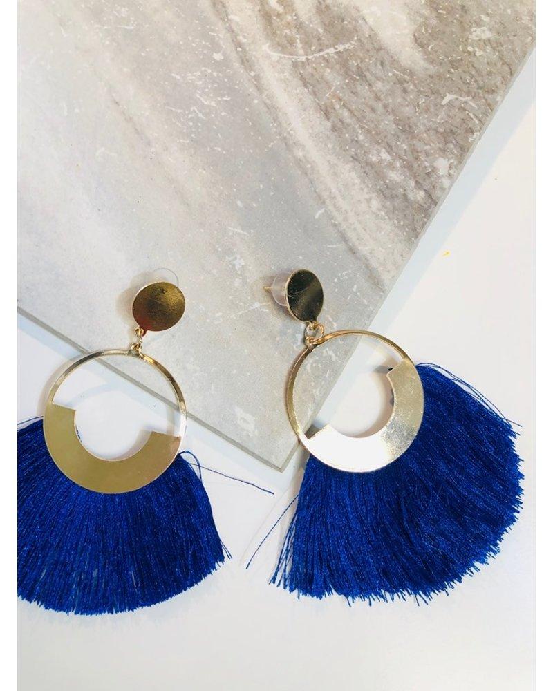 Circle Fringe Earring - Royal
