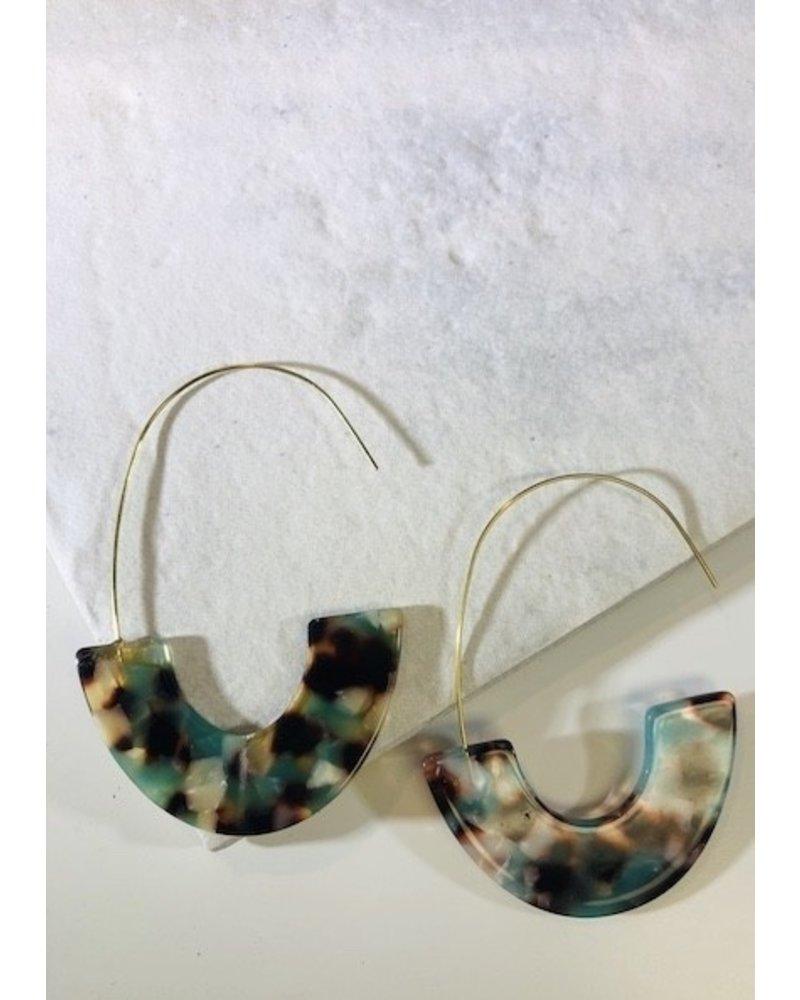 Acrylic Hoop Earring - Multi