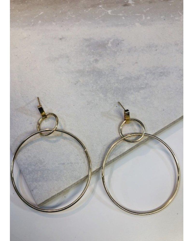 Double Ring Dangle Earrings