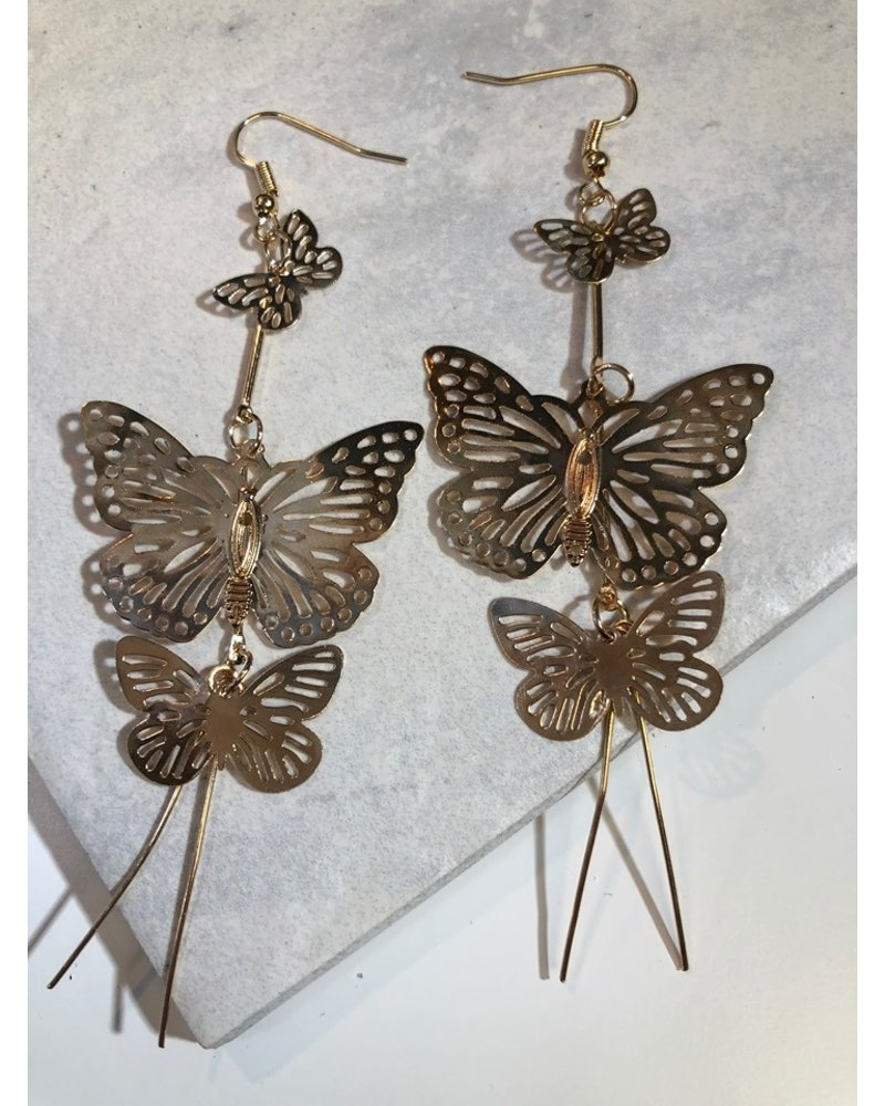 Drop Butterfly Earrings