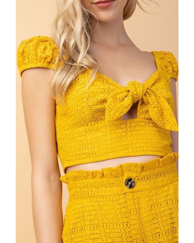yipsy Keep In Touch Crop Top