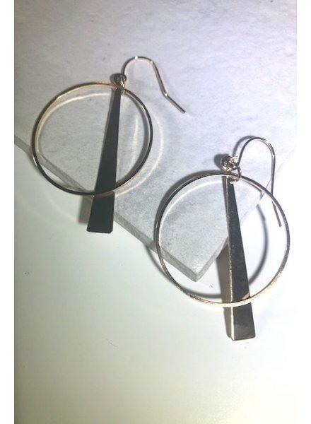 Bar and Hoop Earrings