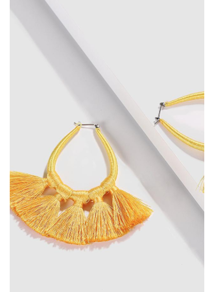 Tassel Earrings - Yellow