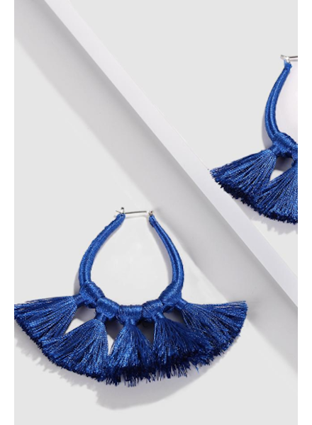 Tassel Earrings - Blue