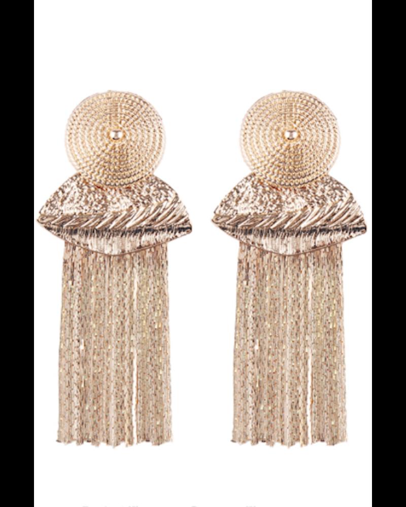 Gold Tassel Earrings