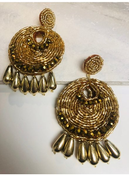 Bead Earrings - Gold