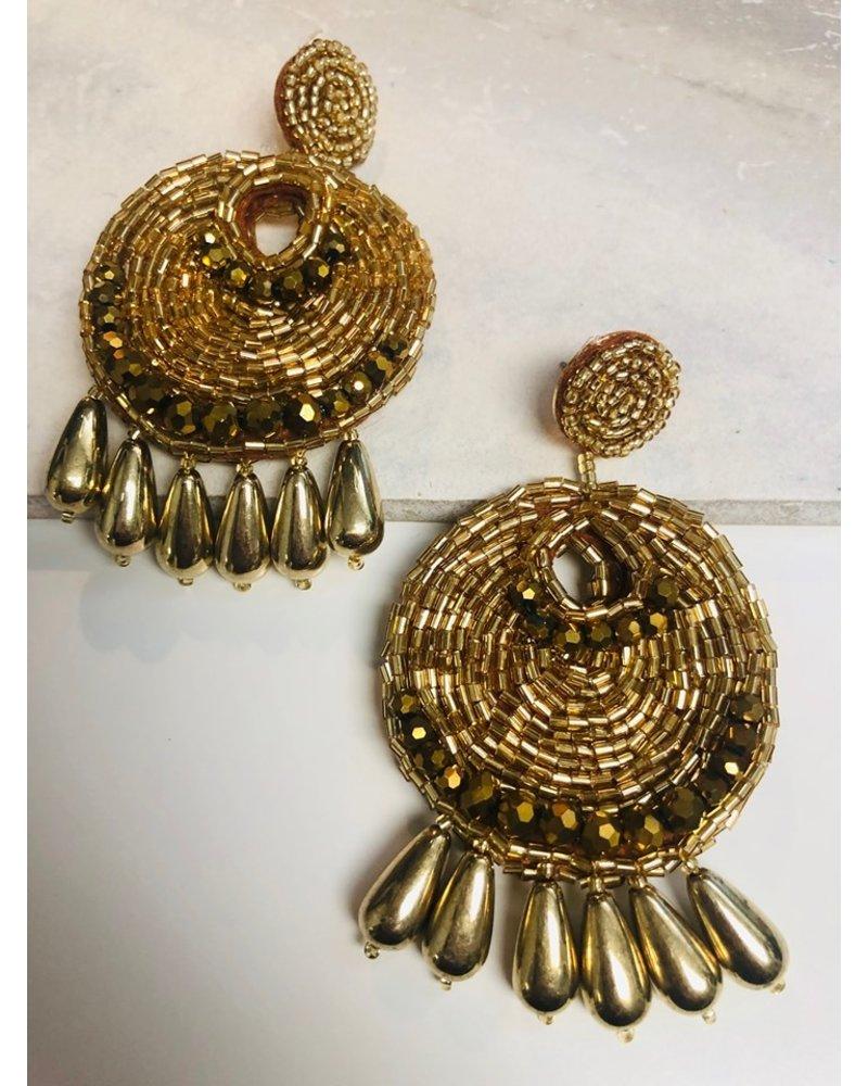 Bead Earrings - Gold