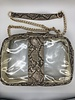 yipsy Clear Python Handbag - Brown