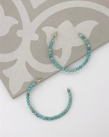 Turquoise Bead Hoop Earrings