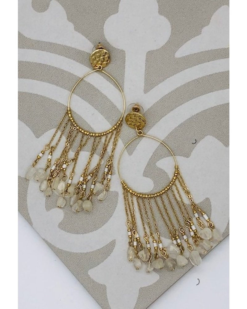 Dreamcatcher Earrings - White