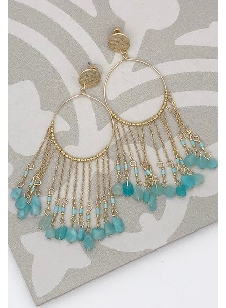 Dreamcatcher Earrings - Blue