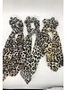 yipsy Leopard Hair Scarf Scrunchie