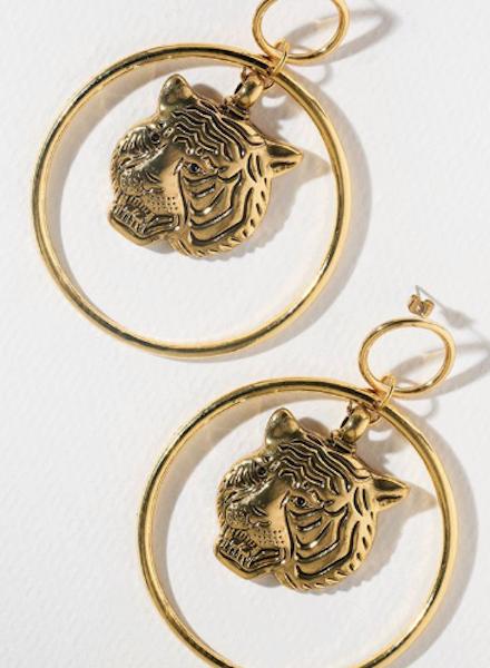 Tiger Hoop Earrings