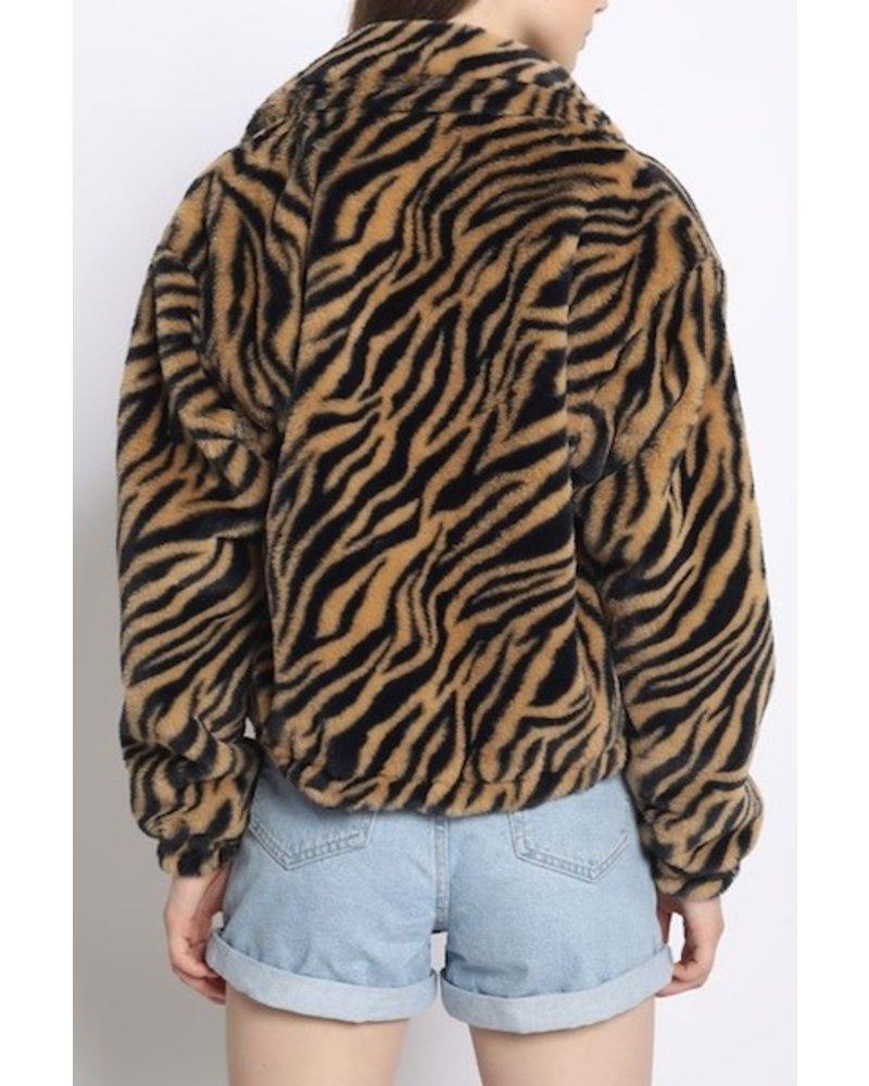Just Warming Up Faux Fur Jacket