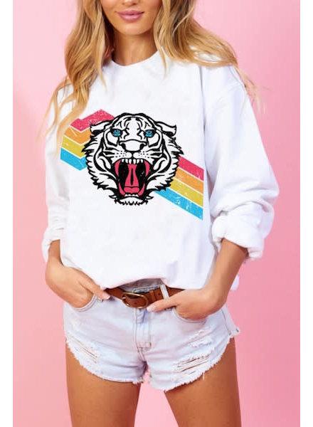 Rainbow Tiger Sweatshirt