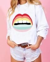 Rainbow Lip Sweatshirt