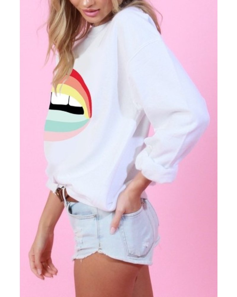 Rainbow Lip Sweatshirt