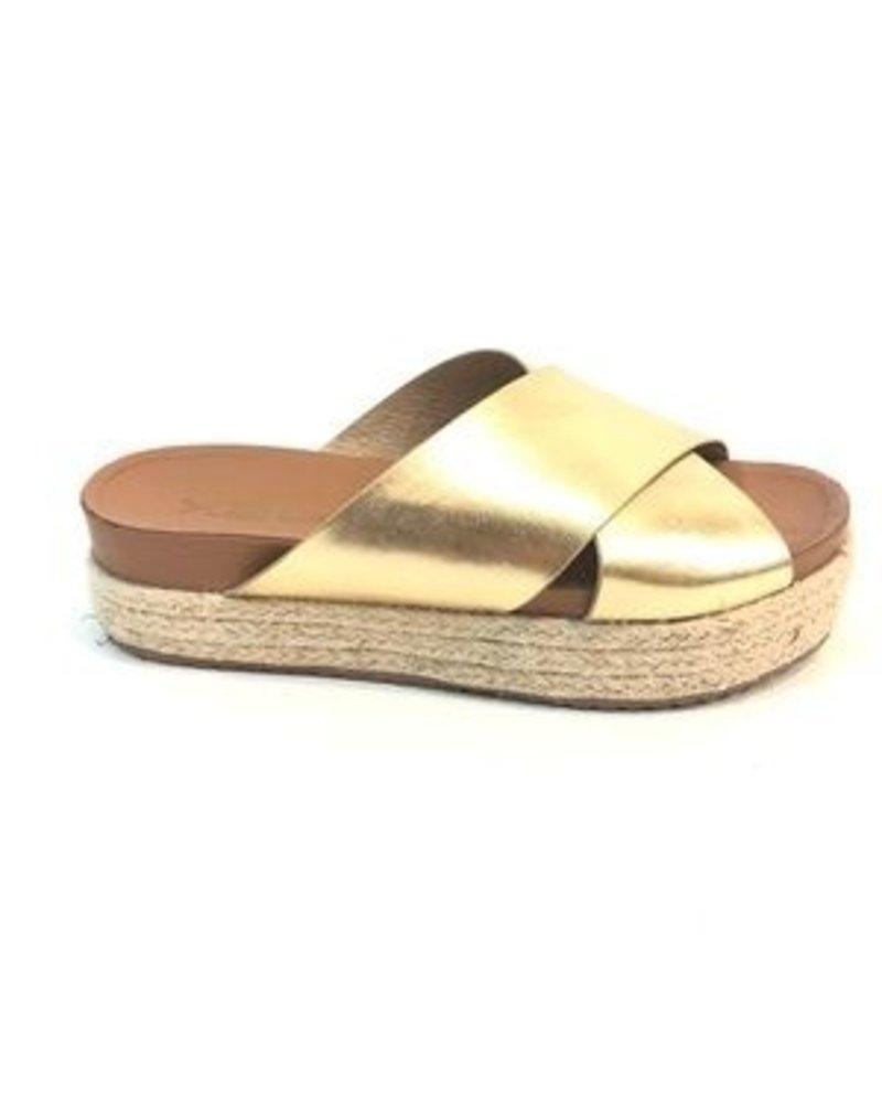 Gold Espadrille Sandal