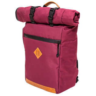 Abscent Abscent Scout Roll-Top Backpack - Crimson
