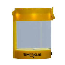 Smokus Focus Smokus Focus Middleman Display Container w/ LED and Dual Magnification - Yellow