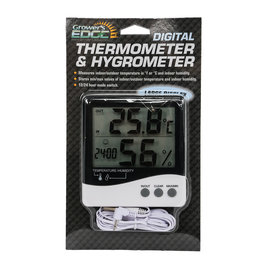 Growers Edge Grower's Edge Large Display Thermometer / Hygrometer