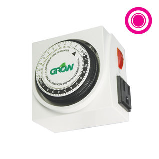 Grow1 120V Dual Outlet Mechanical Timer