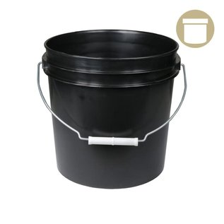2 Gal. Black Bucket w/ handle