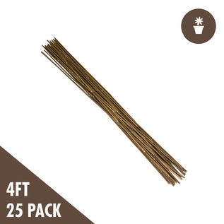 4'  Natural Bamboo Stakes  (pack of 25)