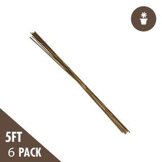 5' Natural Bamboo Stakes Heavy Duty (6 per Pack)