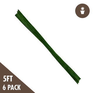 5' Green Bamboo Stakes Heavy Duty (6 per Pack)