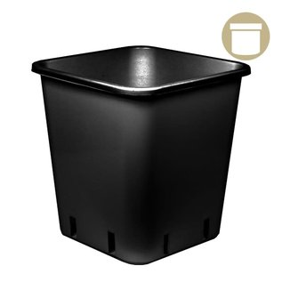 4.5 Gal. Black Square Pot