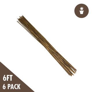 6' Natural Bamboo Stakes Heavy Duty (6 per Pack)