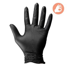 Dirt Defense Dirt Defense Black Nitrile Gloves 100 pack Large