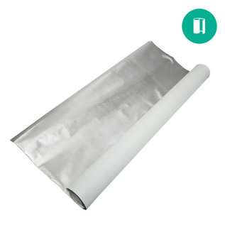 Diamond Foil on White 110mic - 4'x25