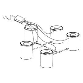Grow1 Grow1 Deep Water Culture (DWC) 4 Bucket + Reservoir Complete Kit