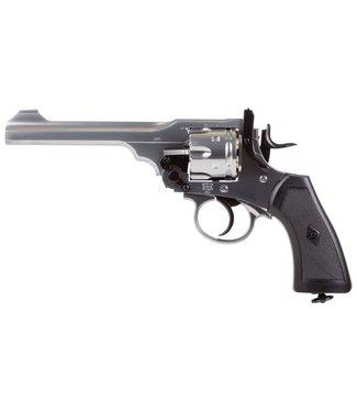 Webley & Scott MKVI Pellet Revolver - Silver FInish